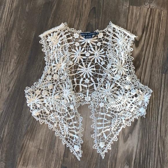 Ralph Lauren Crochet Lace Top
